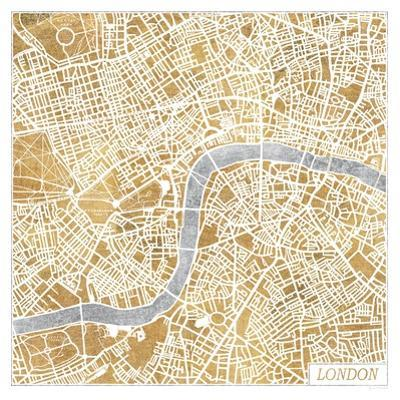Gilded London Map by Laura Marshall