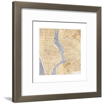 Gilded New York Map