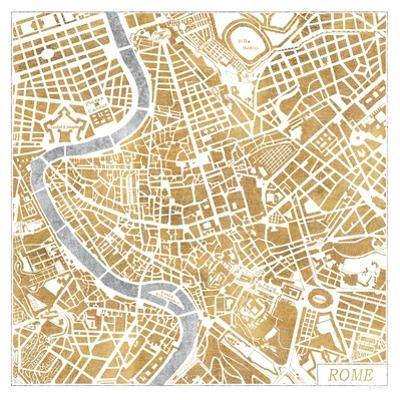 Gilded Rome Map by Laura Marshall