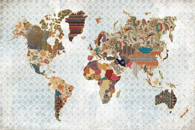 Pattern World Map Geo Background by Laura Marshall
