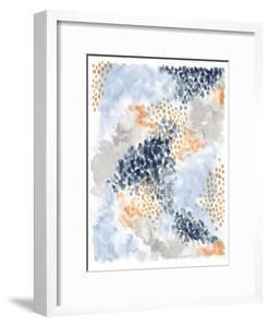 Spring Blooms II Navy by Laura Marshall