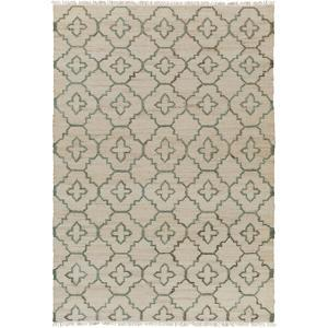 Laural Area Rug - Ivory/Moss 5' x 7'6""