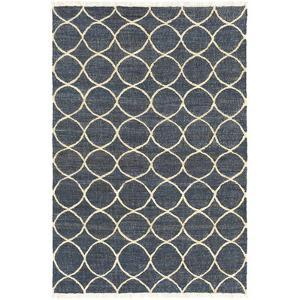 Laural Area Rug - Navy/Ivory 5' x 7'6""