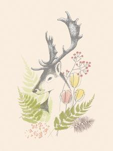 Forest Deer by Laure Girardin Vissian
