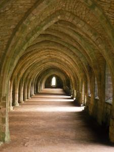 Cistercian Monastery, Fountains Abbey, Eng by Lauree Feldman