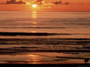 Sunset Over Water by Lauree Feldman