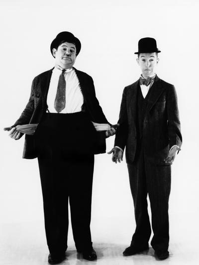 Laurel and Hardy, ca. 1930s--Photo