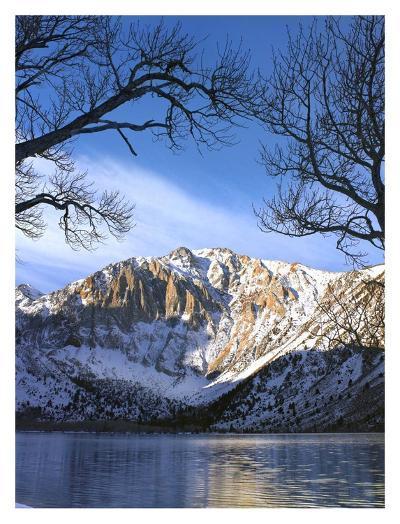 Laurel Mountain reflected in Convict Lake, eastern Sierra Nevada, California-Tim Fitzharris-Art Print