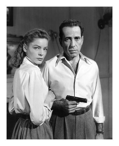 Lauren Bacall and Humphrey Bogart in 'Key Largo' 1948-Hollywood Historic Photos-Art Print