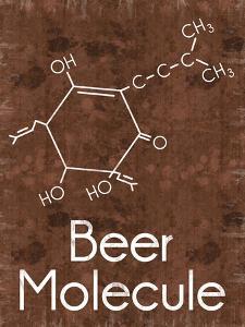 Beer Molecule 2 Rect Brown by Lauren Gibbons