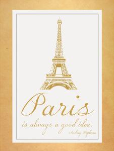 Paris Quote 2 Gold by Lauren Gibbons