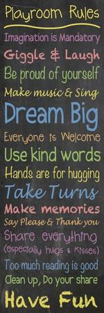 Playroom Rules Chalk
