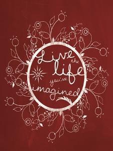 Red Chalk Imagine by Lauren Gibbons