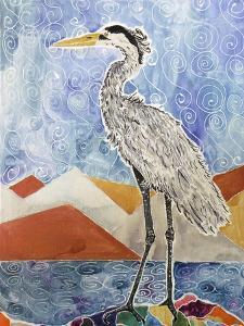 Nouveau Heron by Lauren Moss