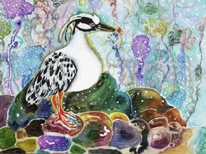 Rainbow Rock Little Heron by Lauren Moss