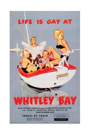 'Life Is Gay at Whitley Bay' - British Railways Poster by Laurence Fish