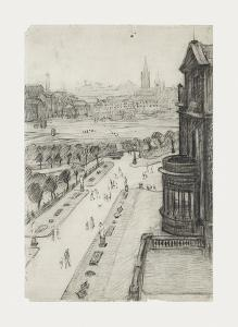 A View From The Window Of The Royal Technical College, Looking Towards Manchester, 1924 by Laurence Stephen Lowry