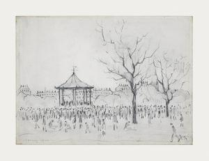 Bandstand, Peel Park, Salford, 1924 by Laurence Stephen Lowry