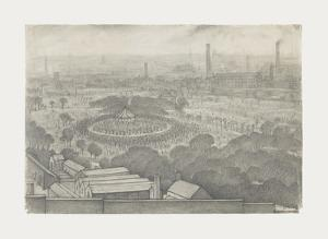 Bandstand, Peel Park , Salford, 1925 by Laurence Stephen Lowry