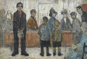 Doctor's Waiting Room, c1920 by Laurence Stephen Lowry