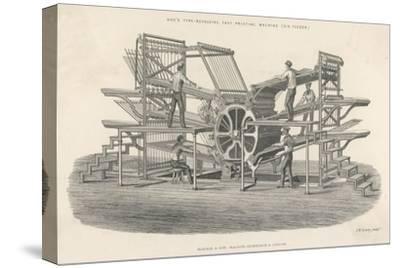 Hoe's Six Feeder Type Revolving Fast Printing Machine