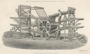 Hoe's Six Feeder Type Revolving Fast Printing Machine by Laurence Stephen Lowry