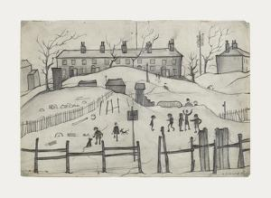 Houses In Broughton, 1937 by Laurence Stephen Lowry
