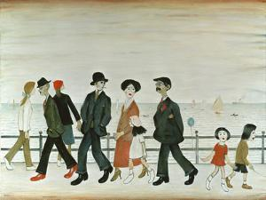 On The Promenade by Laurence Stephen Lowry