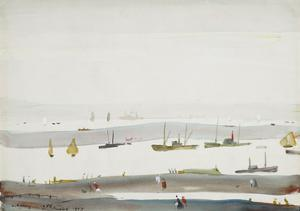 The Estuary, 1956-9 by Laurence Stephen Lowry