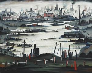 The Lake, 1937 by Laurence Stephen Lowry