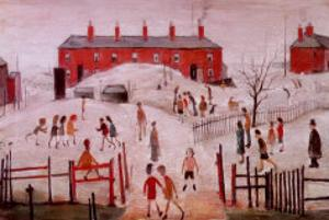 The School Yard by Laurence Stephen Lowry