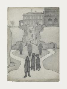 The Steps, Peel Park, Salford, 1930 by Laurence Stephen Lowry