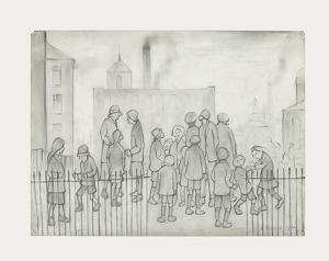 Waiting For The Newspapers, 1930 by Laurence Stephen Lowry