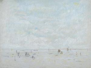 Yachts, 1920 by Laurence Stephen Lowry
