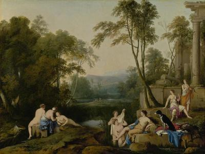 Diana and Her Nymphs in a Landscape, 1644