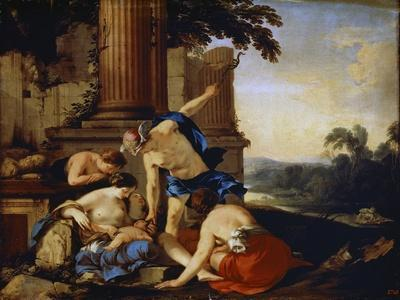 Mercury Giving the Child Bacchus to the Nymphs of Nysa, 1638