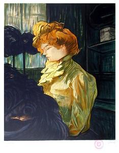 Portrait de Femme after Toulouse-Lautrec by Laurent Salinas