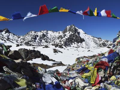 Lauribina Pass, Langtang National Park, Bagmati, Central Region (Madhyamanchal), Nepal, Himalayas-Jochen Schlenker-Photographic Print