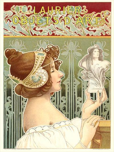 Laurier Art Nouveau Poster-Found Image Press-Art Print