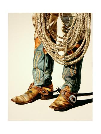 Boots and Rawhide Rope 1 by Laurin McCracken