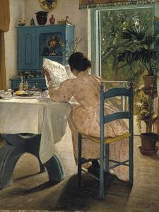 Breakfast with the Morning Newspaper, 1898 by Laurits Andersen Ring