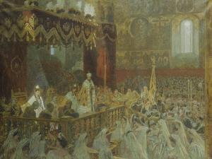 The Coronation of Czar Nicolas Ii by Laurits Regner Tuxen