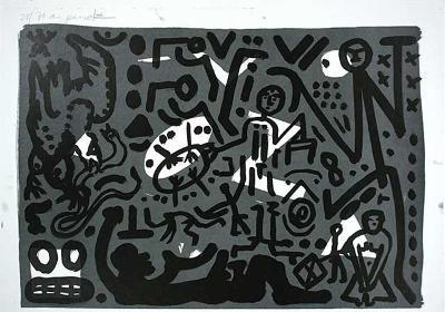 Lausanne 4 Hände auf den Tisch-A^ R^ Penck-Limited Edition