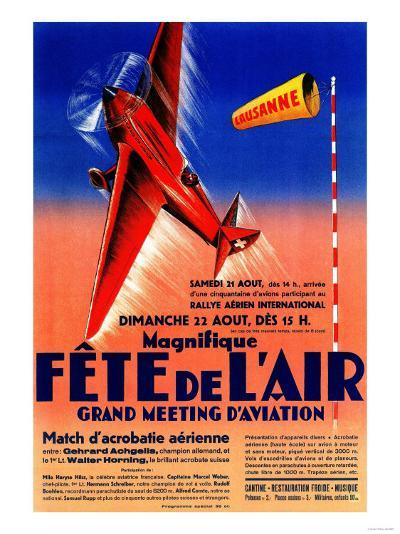 Lausanne, France - Airshow Featuring Haryse Hilsz Promotional Poster-Lantern Press-Art Print