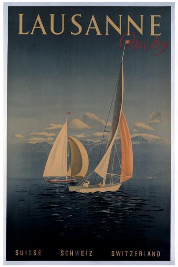 Lausanne--Giclee Print