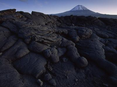 Lava Fields Overlooking Pico Volcano in the Azores-James L^ Stanfield-Photographic Print