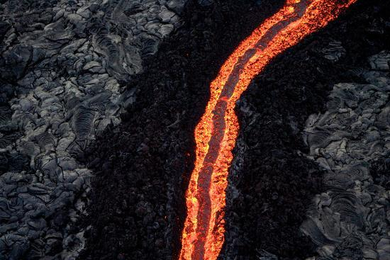 Lava Flow II-Howard Ruby-Photographic Print