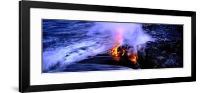 Lava Flowing from a Volcano, Kilauea, Hawaii Volcanoes National Park, Big Island, Hawaii, USA--Framed Photographic Print
