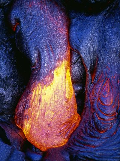 Lava Flowing from Kilauea-Paul Souders-Photographic Print