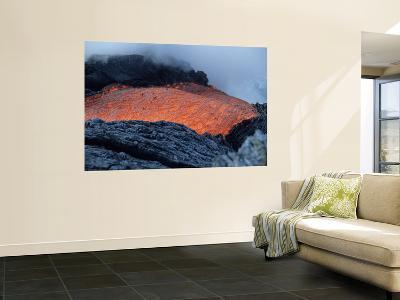 Lava Flowing into Sea, Kilauea Volcano, Big Island, Hawaii-Stocktrek Images-Wall Mural